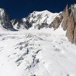 Stock Photo: Mont Blanc massif and Mer de Glace glacier