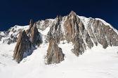 Mont Blanc massif and Mer de Glace glacier — Zdjęcie stockowe
