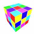 Cubes with colored sides — Stock Photo