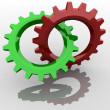 Stock Photo: Two gears