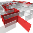 Stock Photo: Maze of rectangular panels