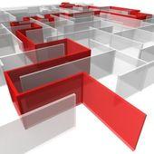 Maze of rectangular panels — Stock Photo