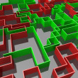 Red and green maze — Stock Photo #4438401