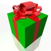 Gift wrap green — Stock Photo
