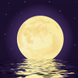Stock Photo: Moon and water