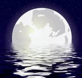 Księżyc w nocy — Zdjęcie stockowe