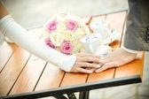 新郎新婦の手 — ストック写真