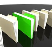 Green and yellow folders — Stock Photo
