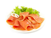 Smoked salmon slices — Stock Photo
