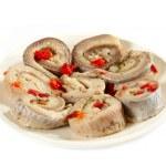 腌的鲱鱼卷 — 图库照片