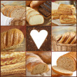 Collage of bread images - Stock Photo