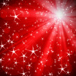 Stock Photo: Red background with stars
