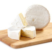 Brie and camembert cheese — Stok fotoğraf