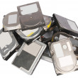 Stock Photo: Big pile hard drives