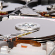 Many open computer Hard Drive - Stock Photo