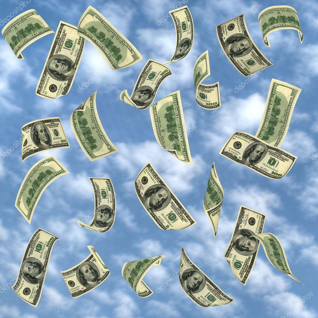 foto dinero volando: