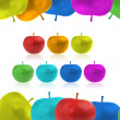 Framework from color apples — Stock Photo