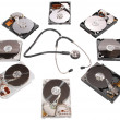 Hard disk diagnosis - Stock Photo