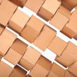 Background stacked cardboard boxes — Stock Photo