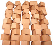 Stacked cardboard boxes — Stock fotografie
