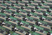 Many electronic circuit board — Stockfoto