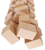 Stacked cardboard boxes — Stock Photo