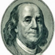 Franklin Benjamin portrait cutout — Stock Photo
