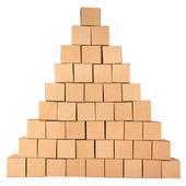 Boxes.pyramid cartone da caselle — Foto Stock