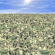 Royalty-Free Stock Photo: Sea of money or money land