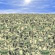 Sea of money or money land — Stock Photo