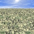 Stock Photo: Seof money or money land