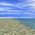 Sea of money or money land — Stock Photo #4974369