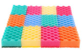 Colored sponges — Stock Photo
