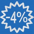 Discount - 4 percent — Stock Photo