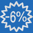 Discount - 6 percent — Stock Photo