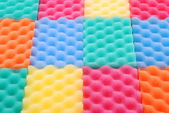 Colored sponges background — Stock Photo