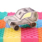 Car wash costs money — Stock Photo