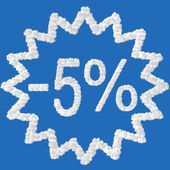 Discount - 5 percent — Foto Stock