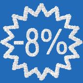 Discount - 8 percent — Stock Photo