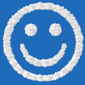Smile combined from clouds — Stock Photo