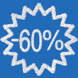 Discount - 60 percent — Stockfoto