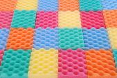 Fundo de esponjas coloridas — Foto Stock