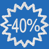 Discount - 40 percent — Stock Photo