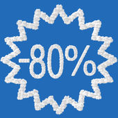 Discount - 80 percent — Stock Photo