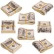Nine pack of money on white background — Stock Photo #5362217