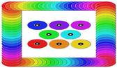 Marco de colorido dvd. — Foto de Stock