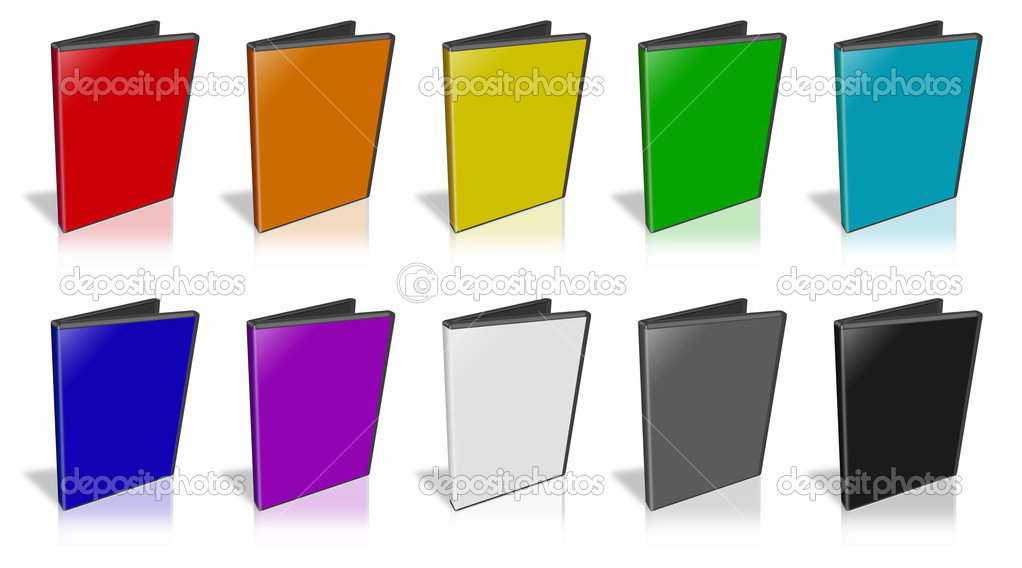 This is a 3D rendering of a DVD Case. — Stock Photo #5362403