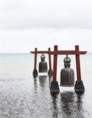 Dva staré velké zvony ve vodě — Stock fotografie