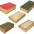 Five old books - Stock Photo