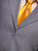 Suit with a shirt and a tie — Stock Photo